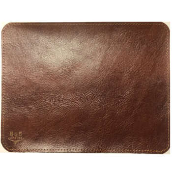 ماوس پد چرم طبیعی دست دوز لاکچری مدل N100  قهوه ای B&S Leather