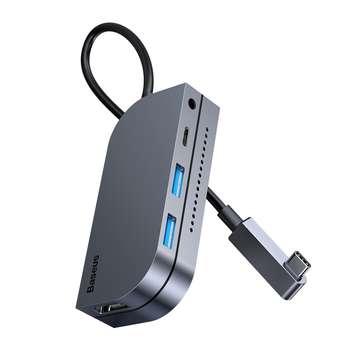 هاب 6 پورت USB-C باسئوس مدل CAHUB-CWJ0G