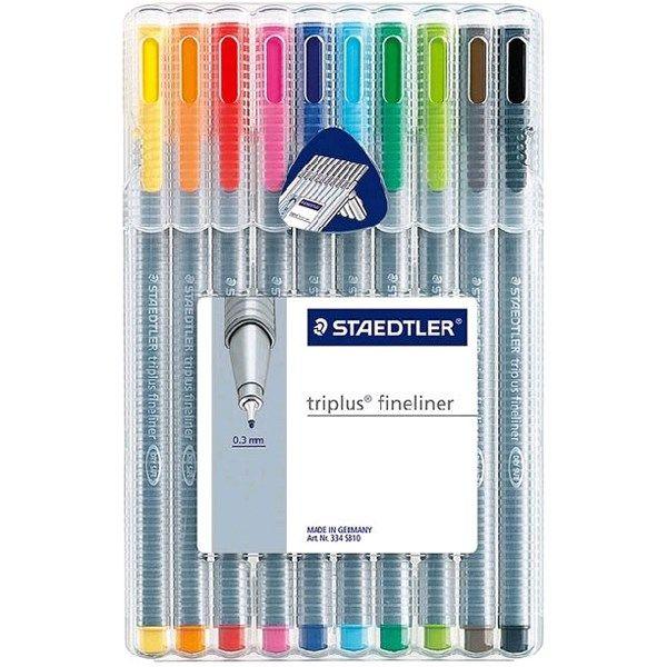 روان نویس 10 رنگ استدلر مدل Triplus Fineliner