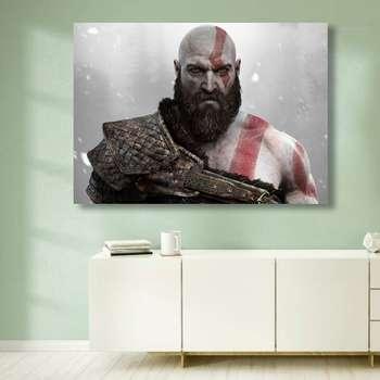 تابلو شاسی گالری استاربوی طرح بازی God Of War مدل Amazing Game 4