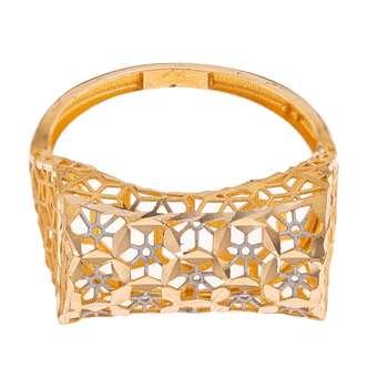 انگشتر طلا 18 عیار زنانه گالری یارطلا مدل فیوژن کد ANF06