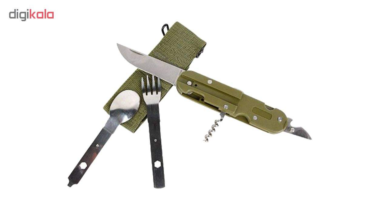 مجموعه قاشق و چنگال و چاقو سفری مدل T5 main 1 1