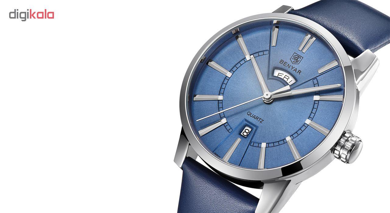 خرید ساعت مچی عقربه ای مردانه بنیار مدل 5101 کد 04