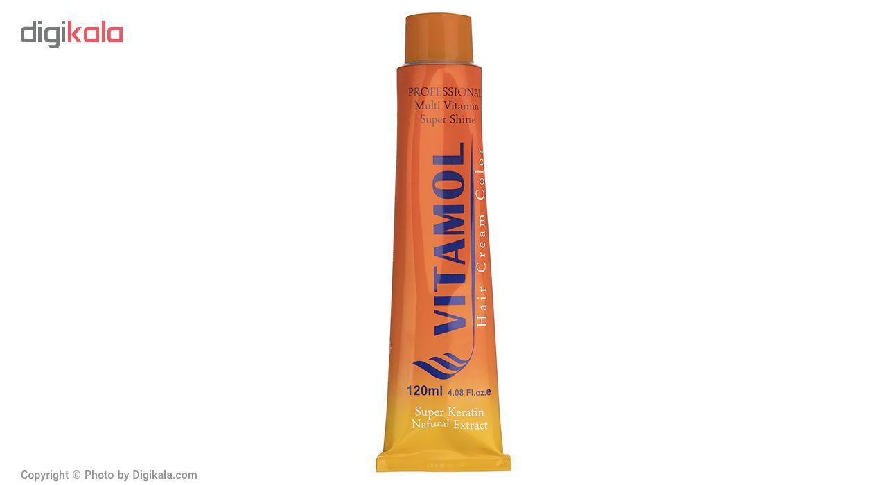 رنگ مو گیاهی ویتامول سری Ash مدل Blue Black شماره 1.1