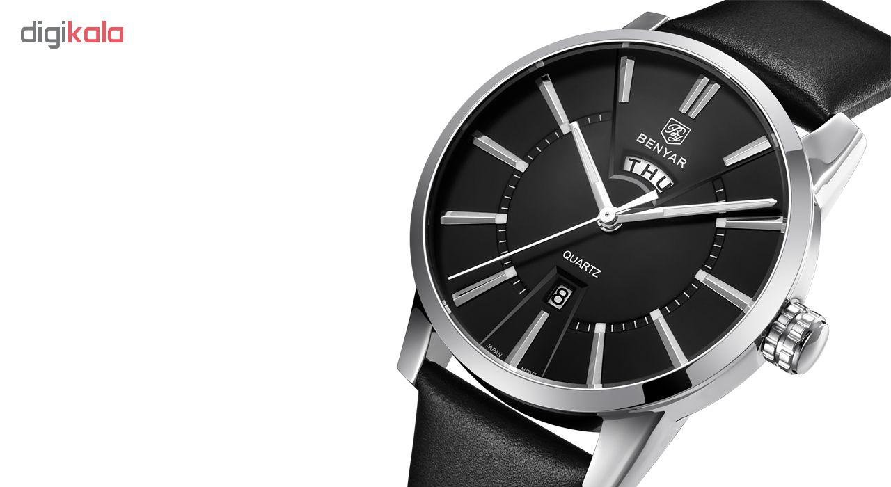 خرید ساعت مچی عقربه ای مردانه بنیار مدل 5101 کد 05