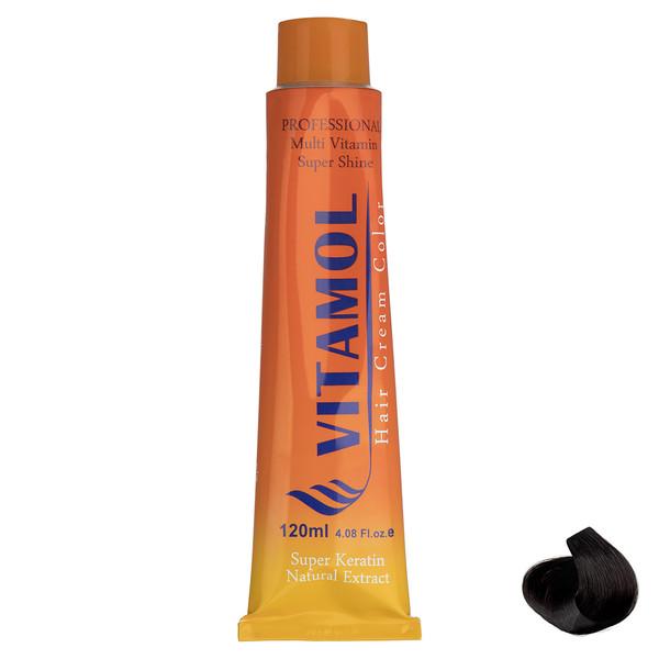 رنگ مو گیاهی ویتامول سری Natural مدل Dark Brown شماره 3