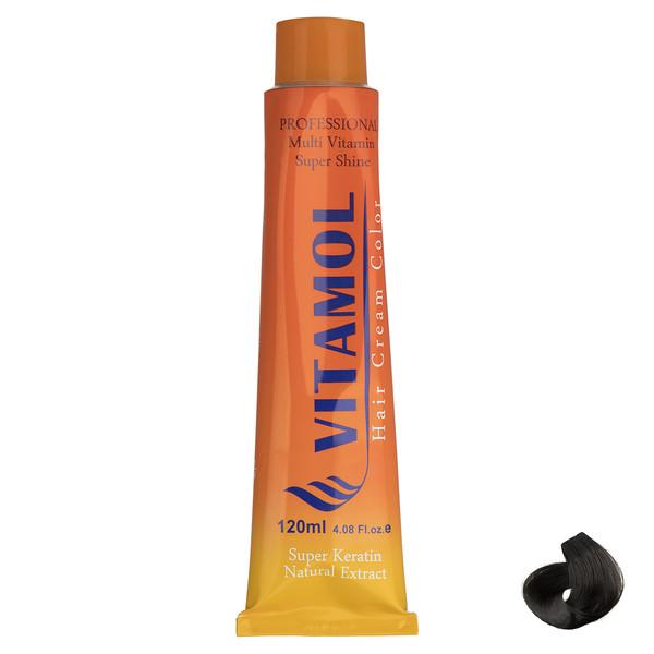 رنگ مو گیاهی ویتامول سری Natural مدل Brown شماره 4