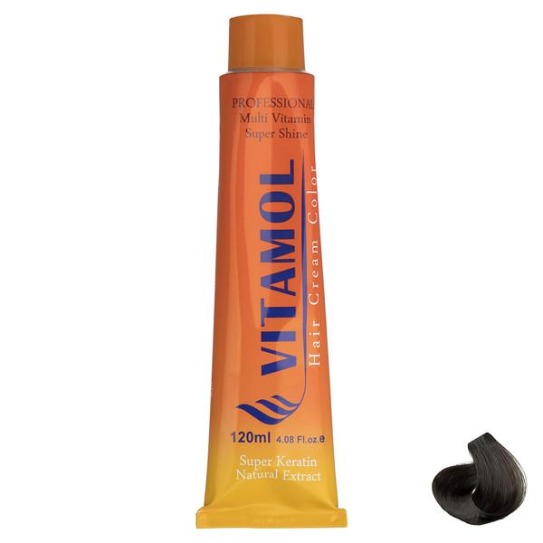 رنگ مو گیاهی ویتامول سری Ash مدل Dark Blonde شماره 6.1