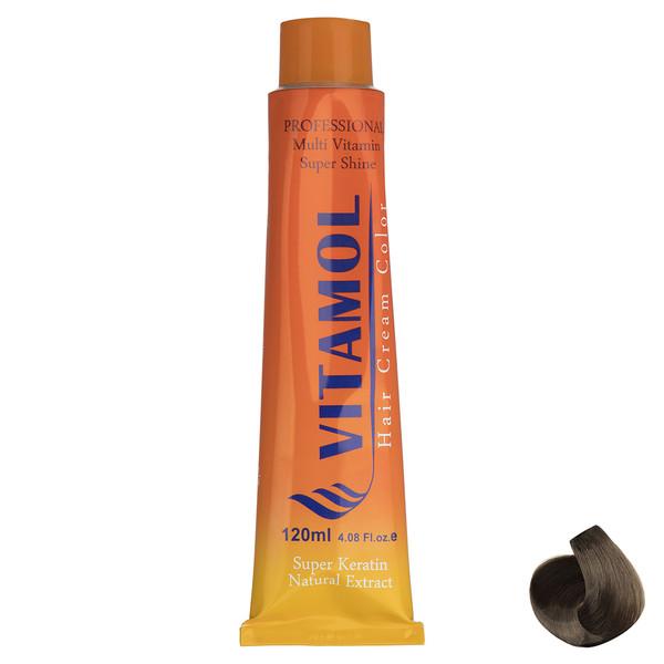 رنگ مو گیاهی ویتامول سری Nescafe مدل Light Blonde شماره 8.7