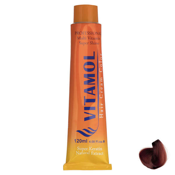 رنگ مو گیاهی ویتامول سری Red مدل Intense Blonde شماره 7.66