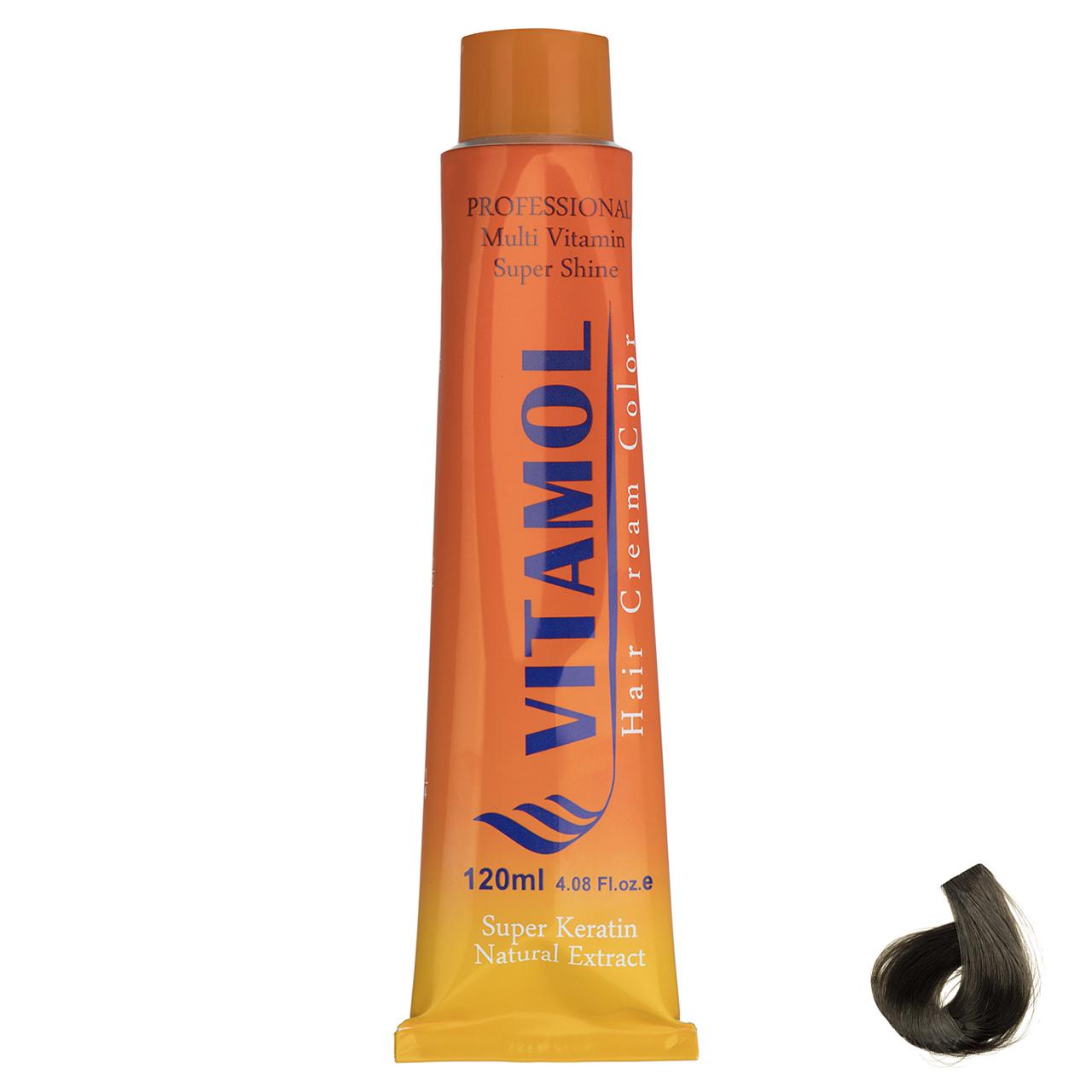 رنگ مو گیاهی ویتامول سری Matt مدل Medium Blonde شماره 7.3