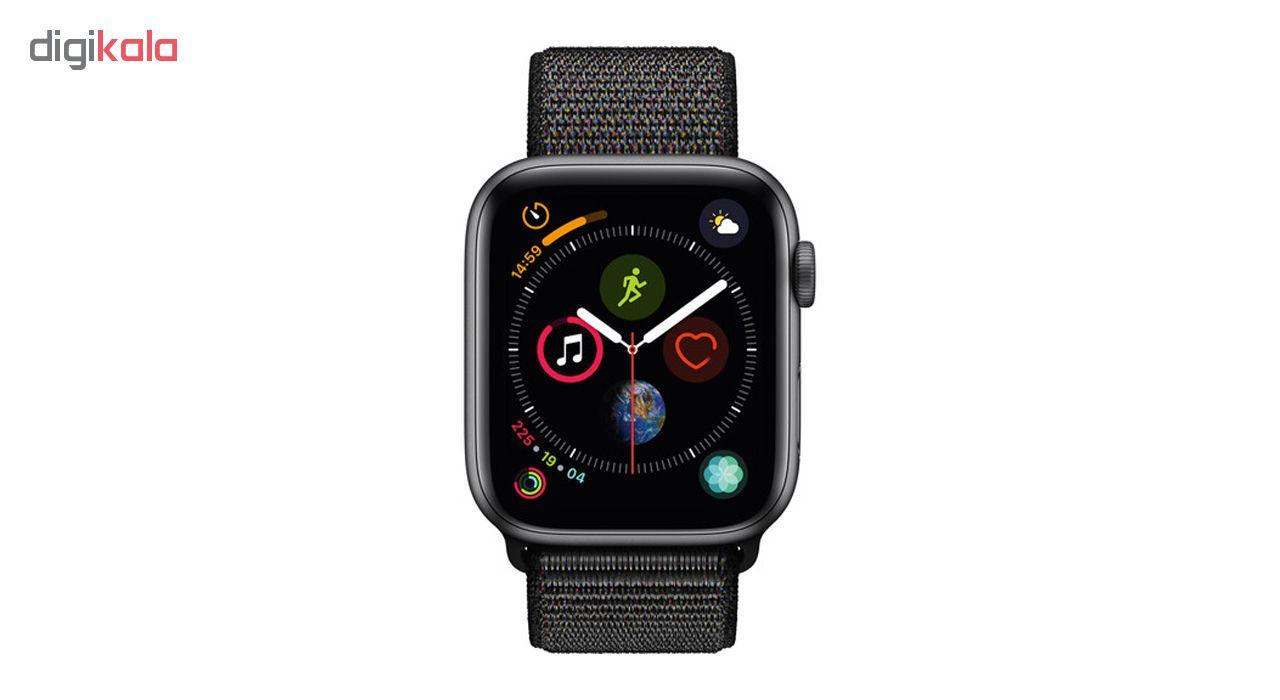 ساعت هوشمند اپل واچ سری 4 مدل 44mm Space Gray Aluminum Case With Black Sport Loop