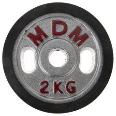وزنه دمبل ام دی ام وزن 2 کیلوگرم بسته 2 عددی