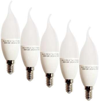 لامپ ال ای دی 7 وات هالی استار کد اشکی پایه E14 بسته 5 عددی