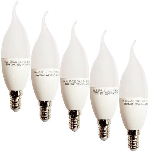لامپ ال ای دی 7 وات هالی استار مدل اشکی پایه E14 بسته 5 عددی