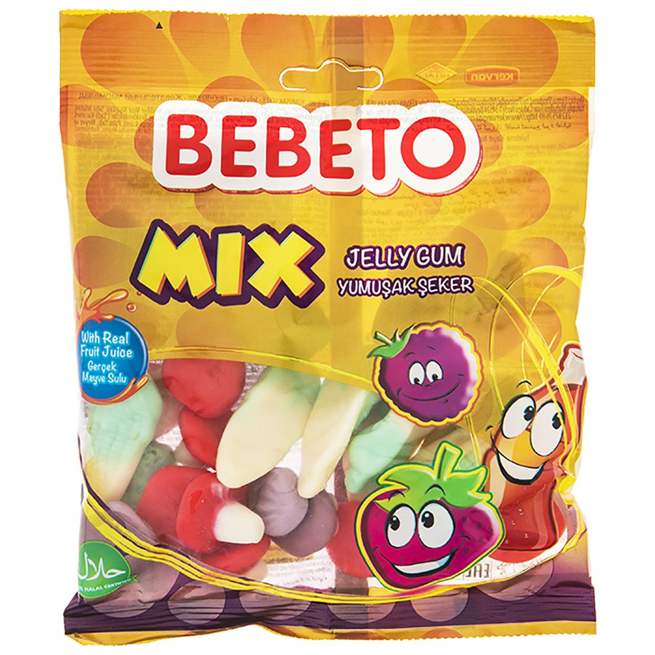 پاستیل میوه ای ببتو مدل Mix مقدار 165 گرم