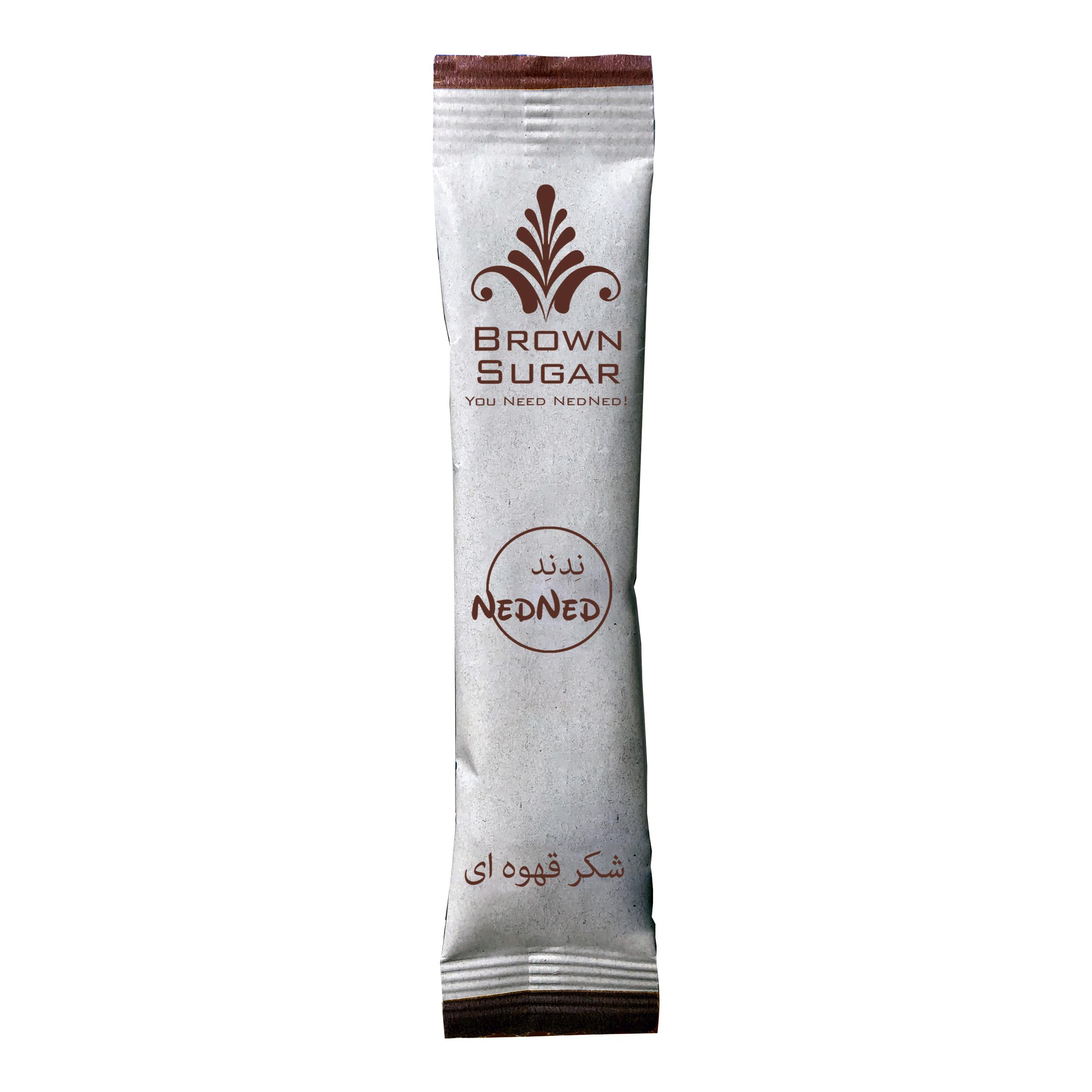 شکر قهوه ای ندند - 5 گرم  بسته 40 عددی