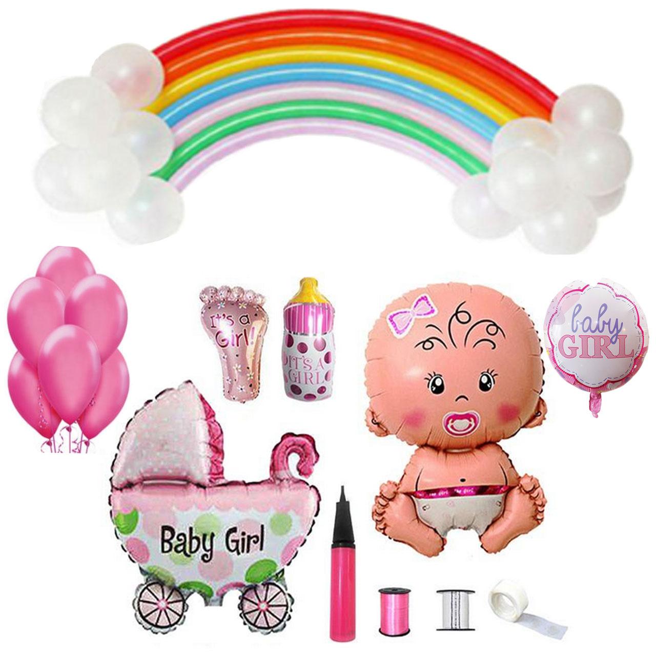 عکس پک بادکنک آرایی تولد مدل babygirl