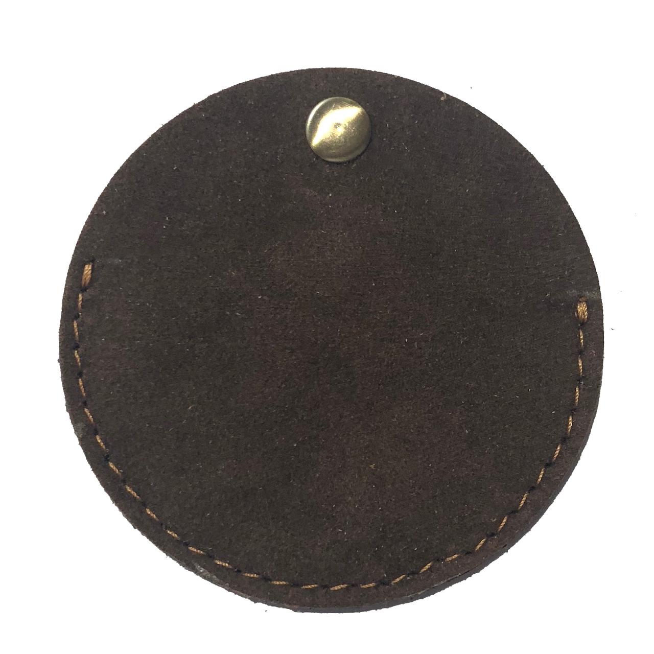 نگهدارنده کابل هندزفری و شارژ دو رو جیر– دست دوز مدل DJ رنگ قهوه ای B&S Leather