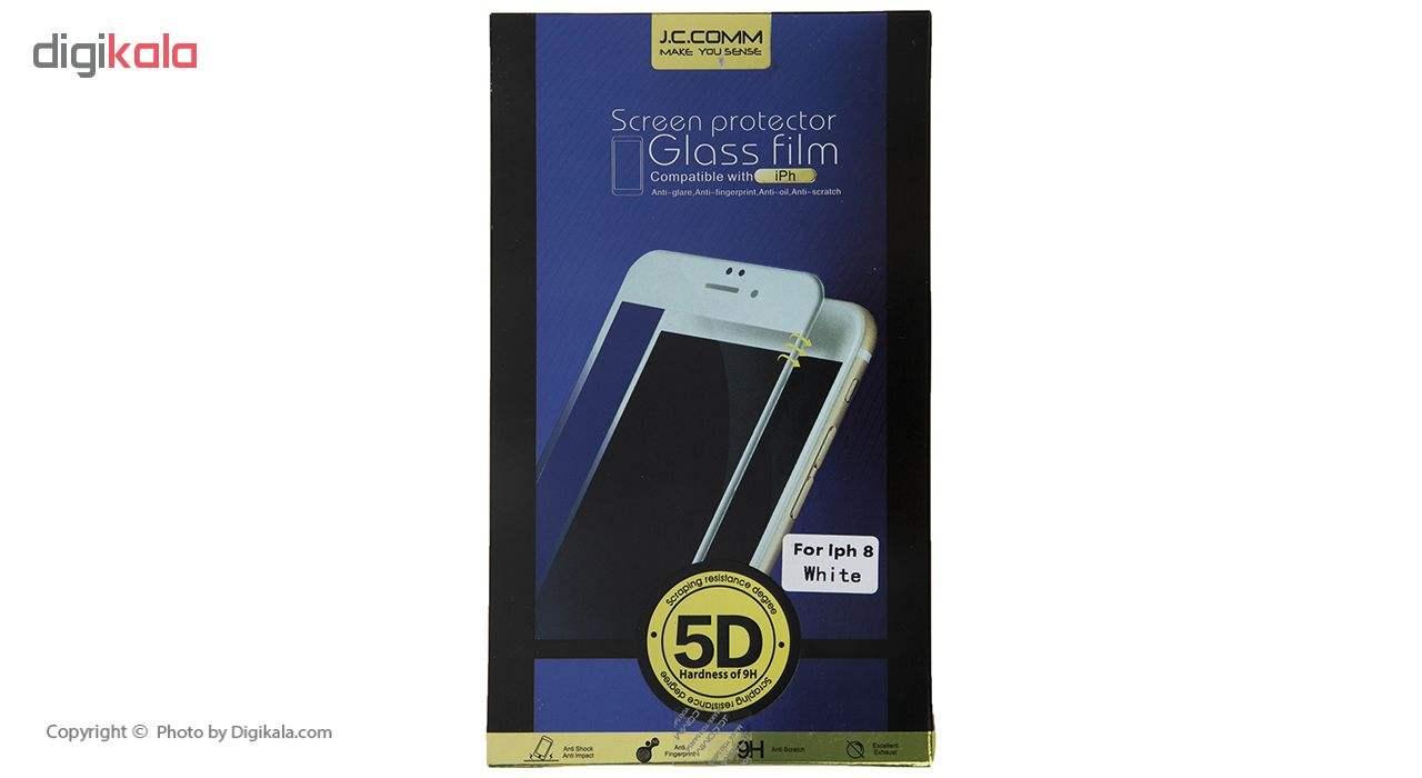 محافظ صفحه نمایش شیشه ای جی سی کام مدل 5d مناسب برای گوشی موبایل اپل iPhone 7/8 main 1 3