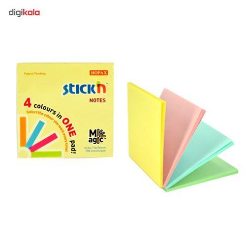 کاغذ یادداشت 4 رنگی هوپکس مربعی