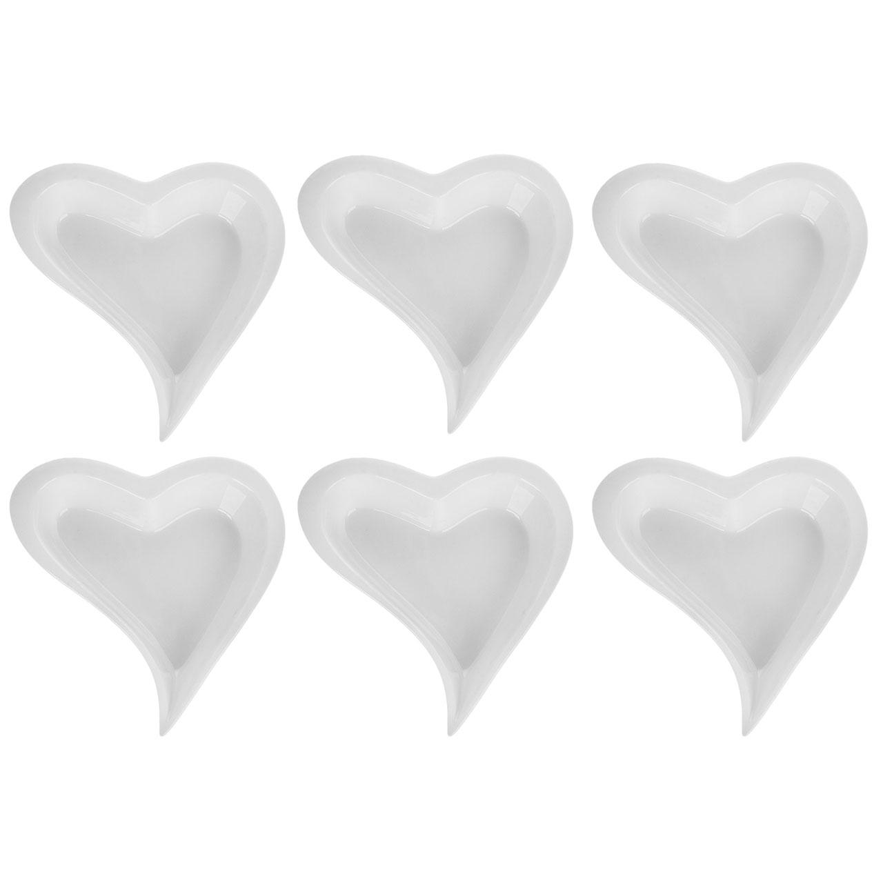 پیاله رومنس طرح قلبی بسته 6 عددی