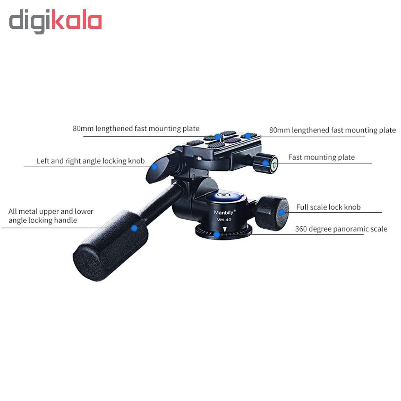 سر سه پایه هد عکاسی و فیلم برداری مانبیلی VH-40 main 1 1