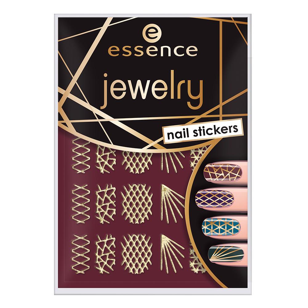 قیمت استیکر طراحی ناخن اسنس مدل Jewelry شماره 09