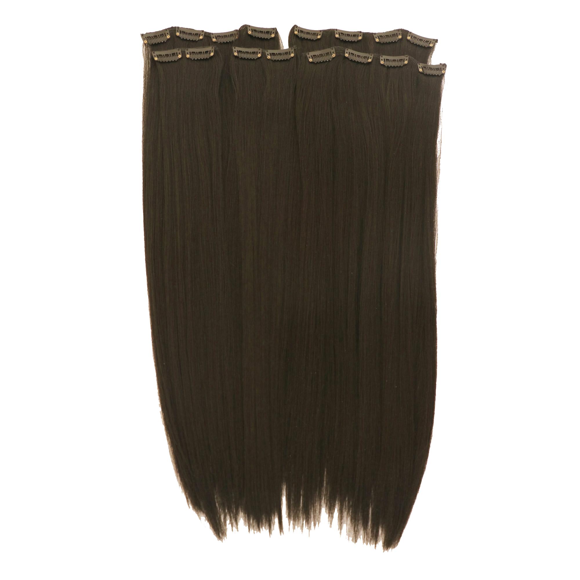 اکستنشن مو متحرک کلیپس دار مدل پوش رنگ موی طبیعی 3041c-3