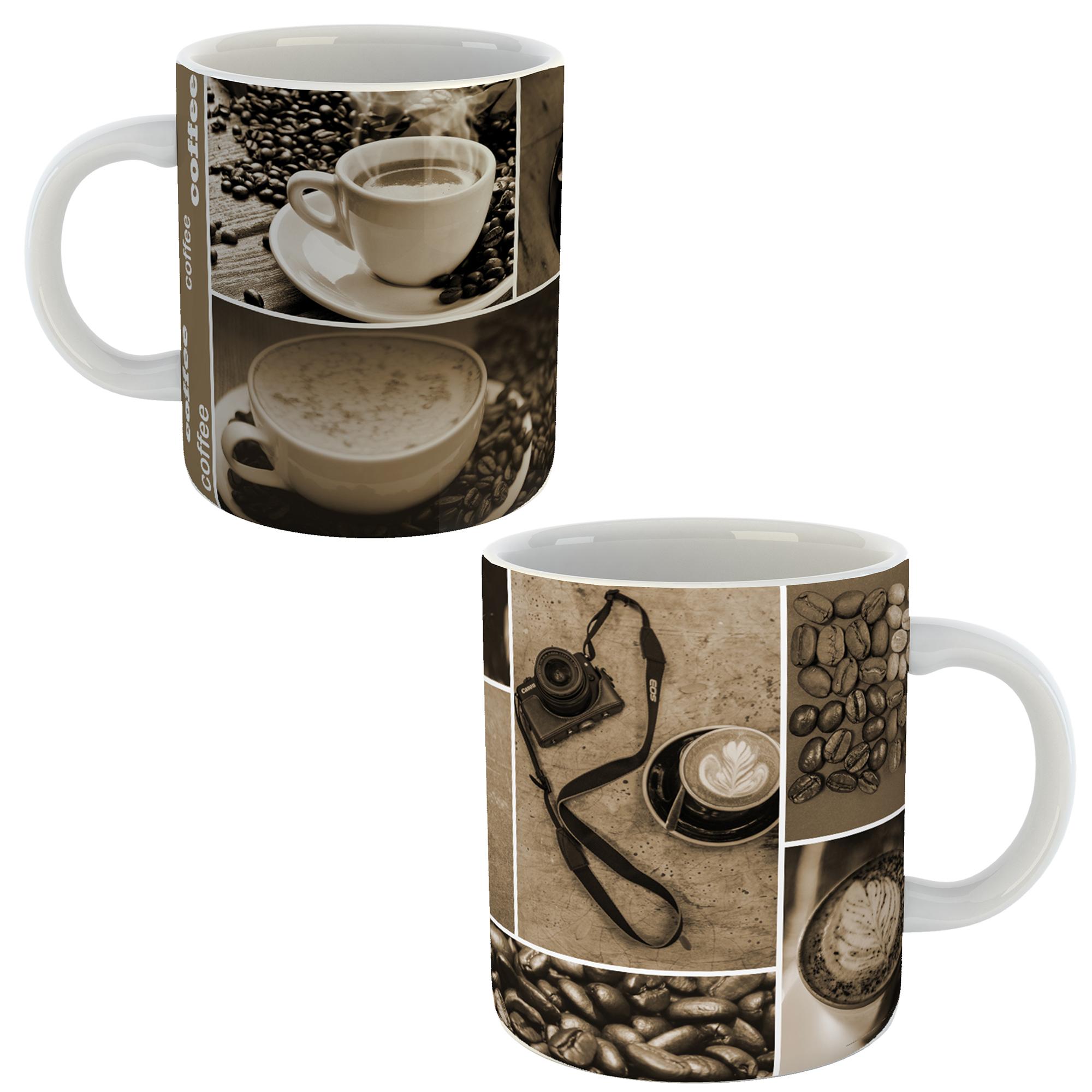 عکس ماگ طرح قهوه 345 بسته 2 عددی
