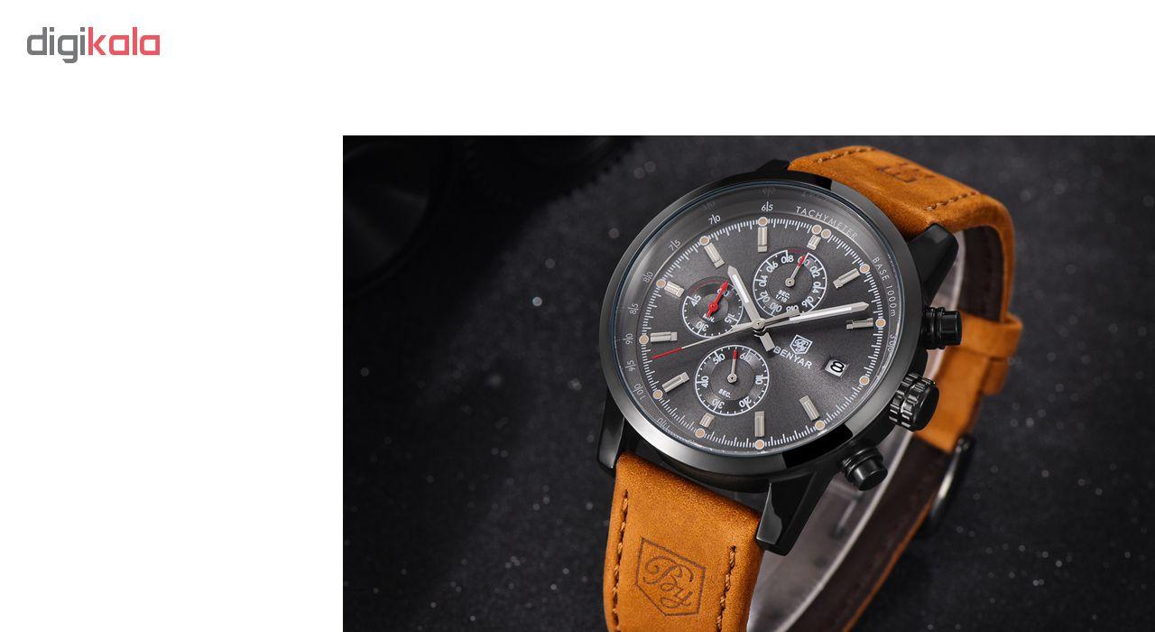 ساعت مچی عقربه ای مردانه بنیار مدل 5102 کد 01