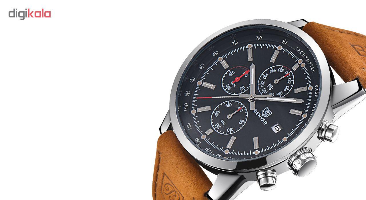 ساعت مچی عقربه ای مردانه بنیار مدل 5102 کد 02