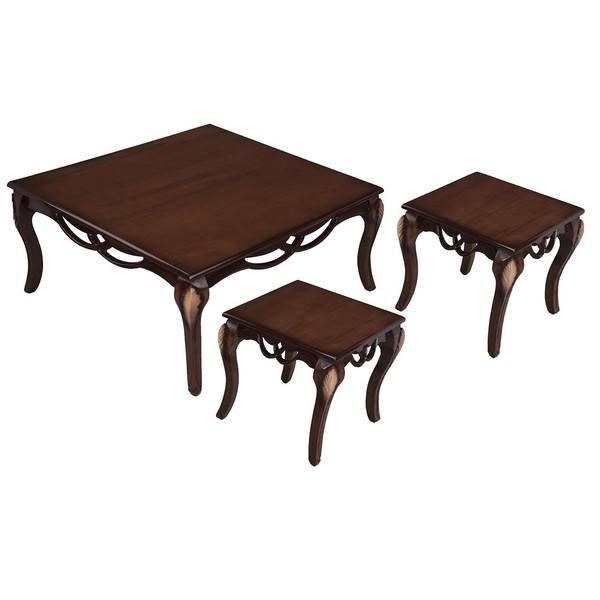 میز جلومبلی و مجموعه ی 2 عددی عسلی کارینو مدل EG315