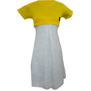پیراهن بارداری کد 1200 رنگ لیمویی