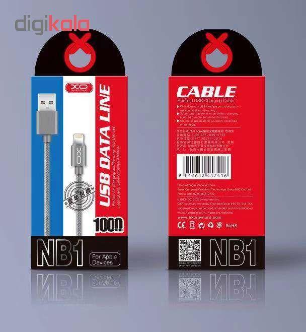 کابل تبدیل USB به لایتنینگ ایکس او مدل NB1 طول 1 متر main 1 15