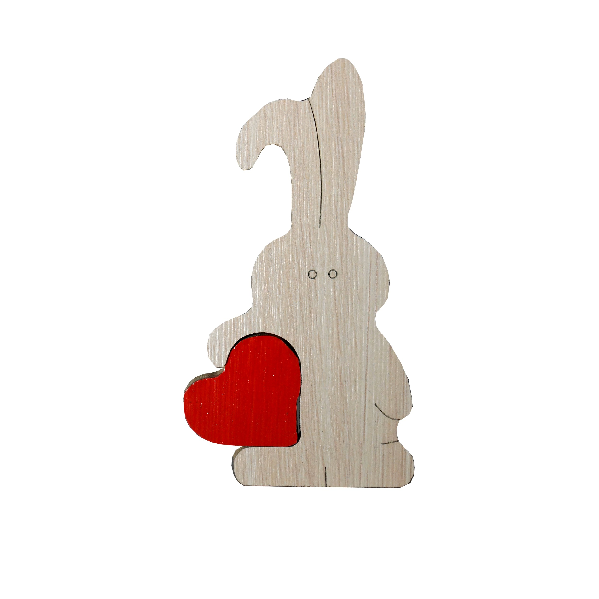 عکس مجسمه چوبی خرگوش عاشق مدل 110