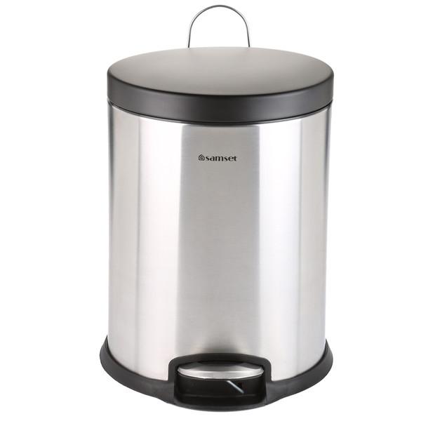 سطل زباله سام ست مدلF طرح  استوانه ای کد 45138 ظرفیت 16 لیتری