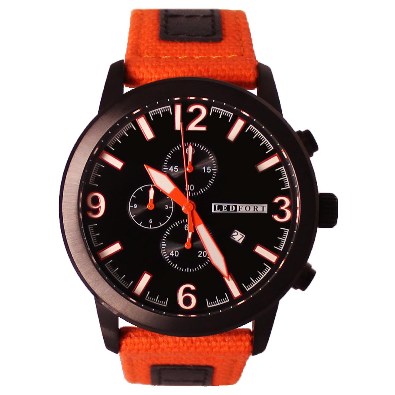 ساعت مچی عقربه ای مردانه لدفورت مدل کرنوگراف کد MK-0007