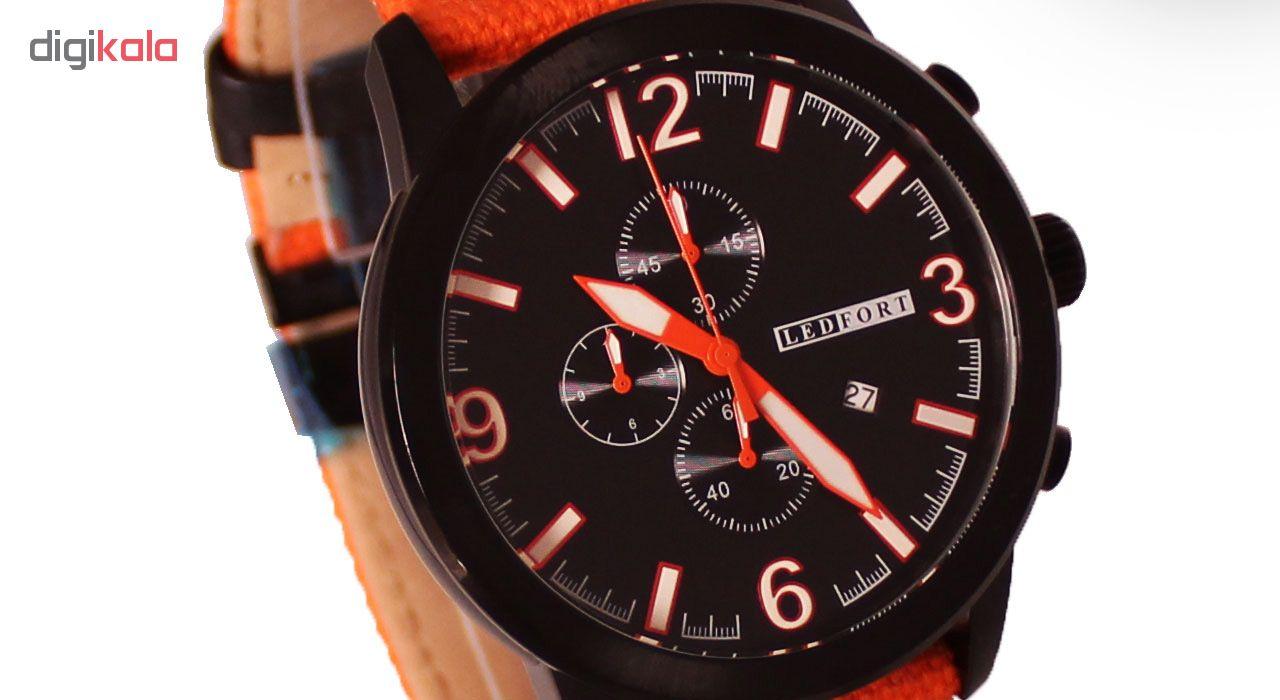 خرید ساعت مچی عقربه ای مردانه لدفورت مدل کرنوگراف کد MK-0007