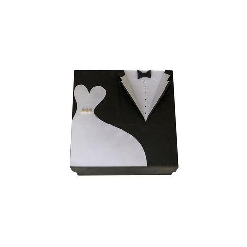 جعبه هدیه طرح لباس عروس و داماد سایز بزرگ