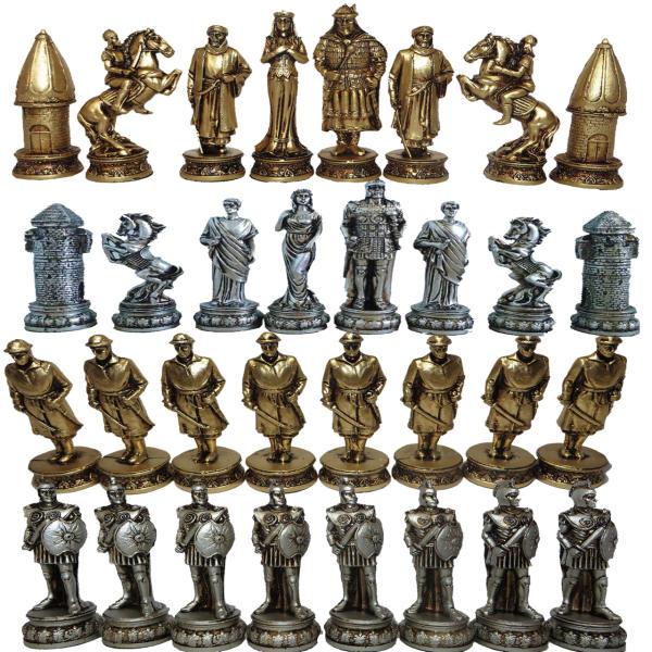مهره شطرنج مدل E02 مجموعه 32 عددی