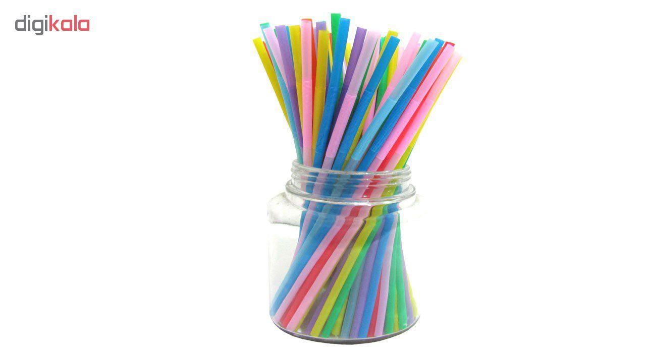 نی نوشیدنی مدل رنگارنگ بسته ۱۰۰ عددی main 1 2