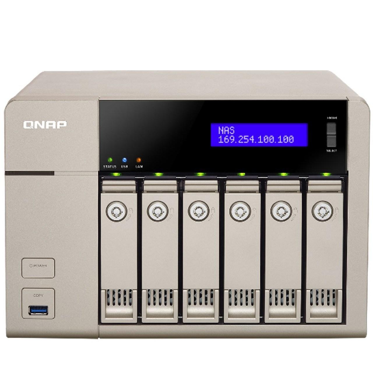 ذخیره ساز تحت شبکه کیونپ مدل TVS-663-4G بدون هارددیسک | QNAP TVS-663-4G NAS - Diskless