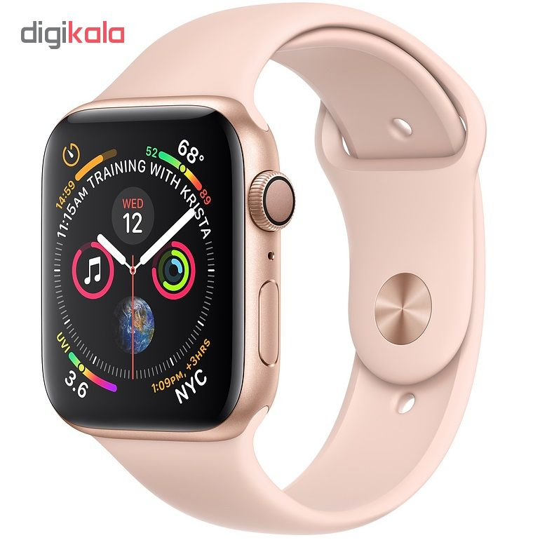 ساعت هوشمند اپل واچ 4 مدل 44mm Gold Aluminum Case with Pink Sand Sport Band