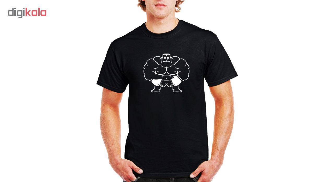 تی شرت ورزشی نخی مردانه فلوریزا طرح بدنسازی کد Bodybuilding001M تیشرت