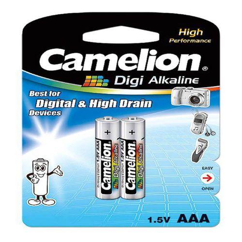 باتری نیم قلمی کملیون مدل Digi Alkaline بسته 2 عددی