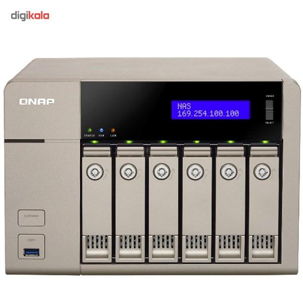 ذخیره ساز تحت شبکه کیونپ مدل TVS-663-4G بدون هارددیسک