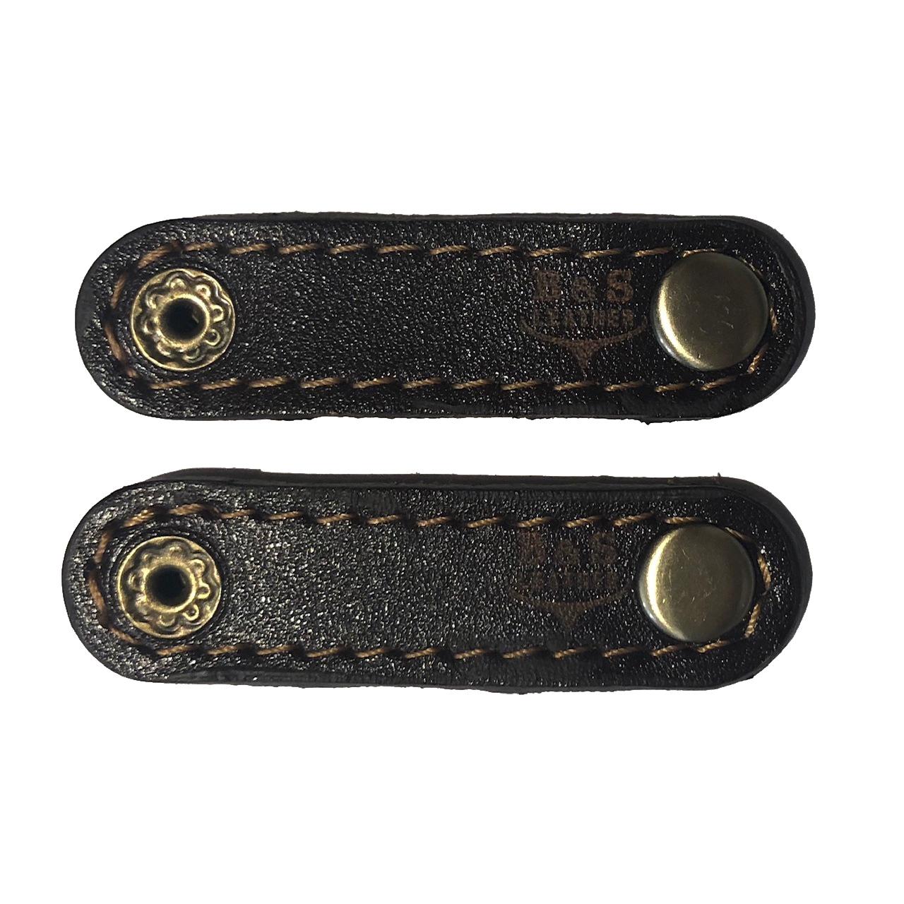نگهدارنده کابل هندزفری و شارژ چرم طبیعی – دست دوز مدل EG بسته 2 عددی رنگ قهوه ای B&S Leather               ( قیمت و خرید)