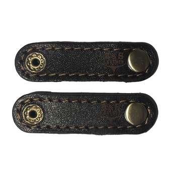 نگهدارنده کابل هندزفری و شارژ چرم طبیعی – دست دوز مدل EG بسته 2 عددی رنگ قهوه ای B&S Leather