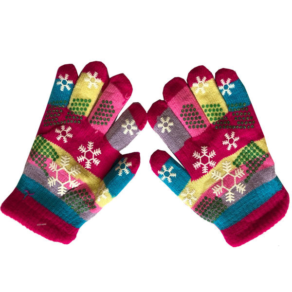 دستکش بافتنی بچگانه طرح دانه برف